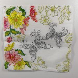servetel fluturi si flori