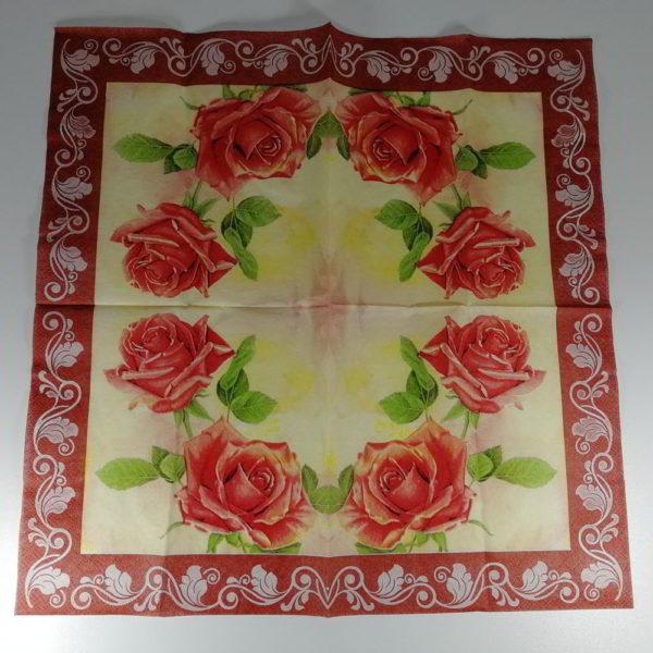 servetel trandafiri rosii 1