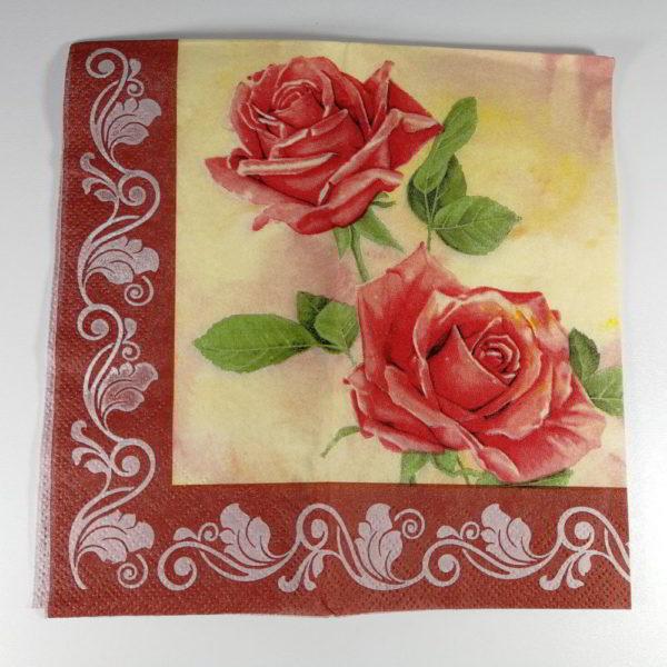 servetel trandafiri rosii