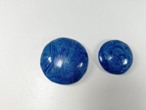 Cabochon polimer rotund set albastru 2