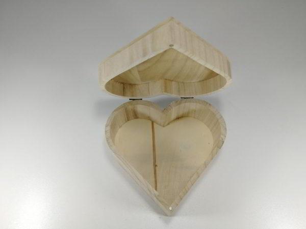 Cutie lemn inima 2