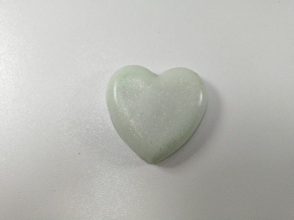 cabochon polimeric inima alb efect