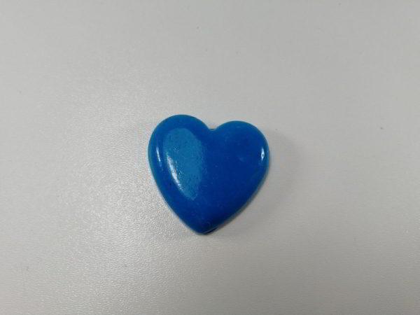 cabochon polimeric inima albastra