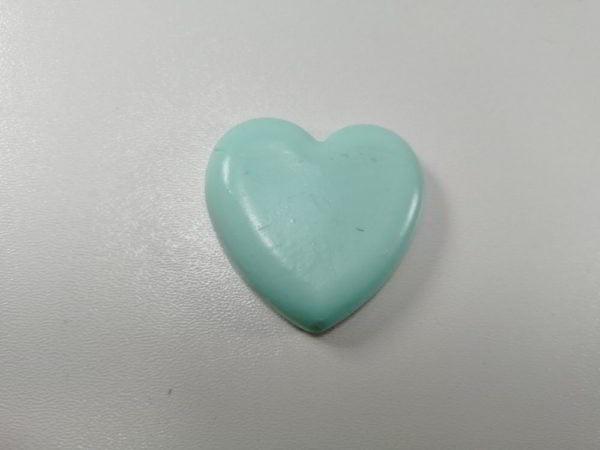 cabochon polimeric inima bleu