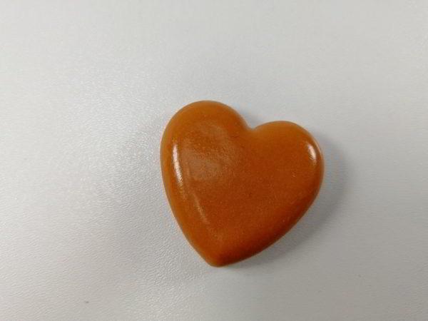 cabochon polimeric inima terracotta