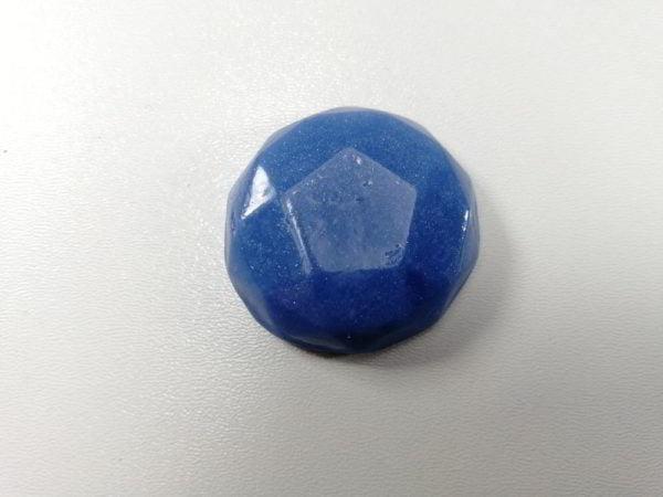 cabochon polimeric rotund fatetat albastru