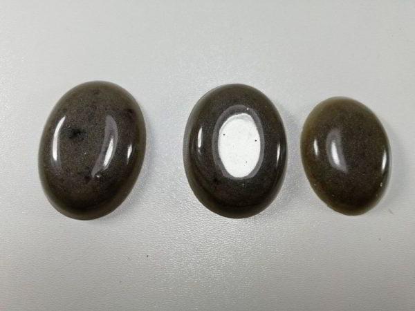 cabochon rasina set oval gri