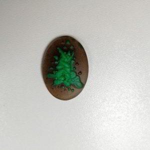 cammeo rasina oval indragostiti verde maro