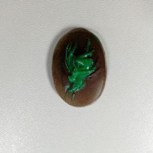cammeo rasina oval zana verde maro