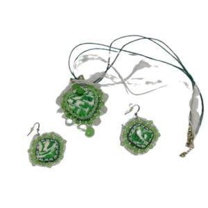 set verde alb