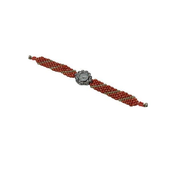 ceas argintiu roz floare