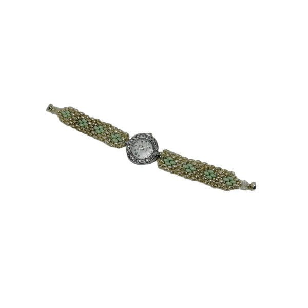 ceas argintiu verde