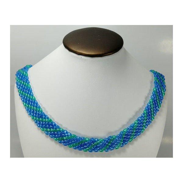 colier albastru verde 1