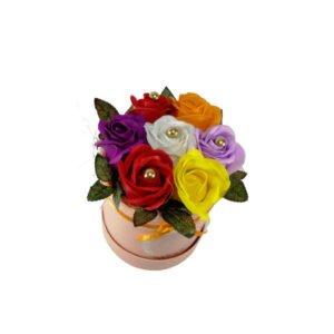 cutie trandafiri multicolor