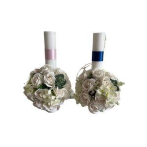 lumanari nunta roz albastru